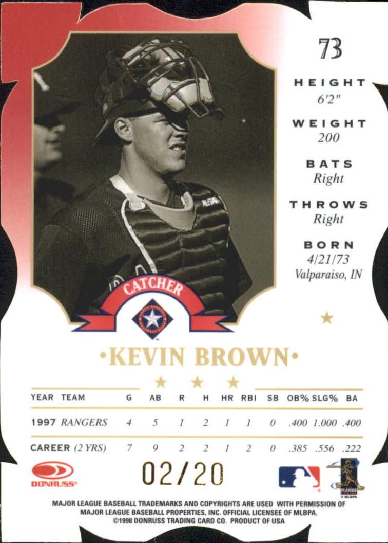 1998 Leaf Fractal Materials Z2 Axis #73 Kevin Brown C P back image