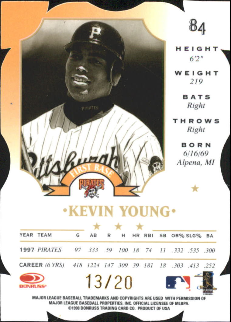 1998 Leaf Fractal Materials Z2 Axis #84 Kevin Young P back image