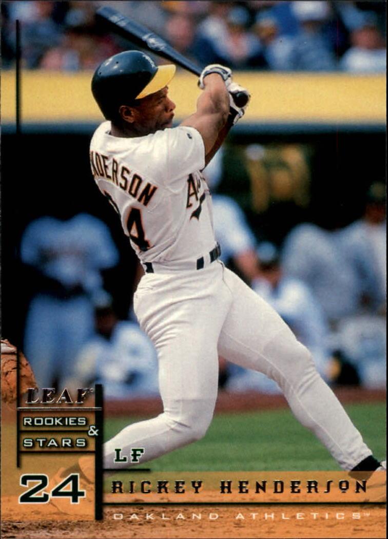 1998 Leaf Rookies and Stars #24 Rickey Henderson