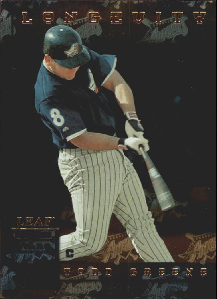 1998 Leaf Rookies and Stars Longevity #104 Todd Greene