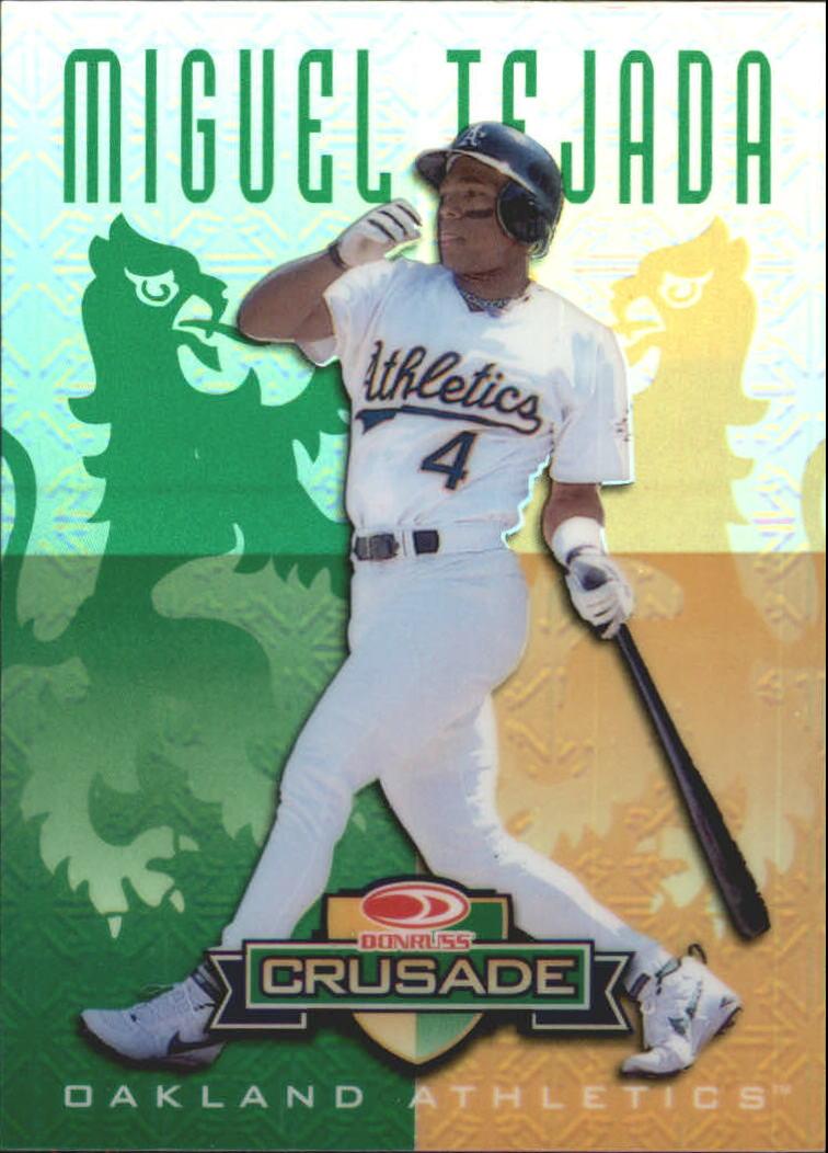 1998 Leaf Rookies and Stars Crusade Update Green #103 Miguel Tejada