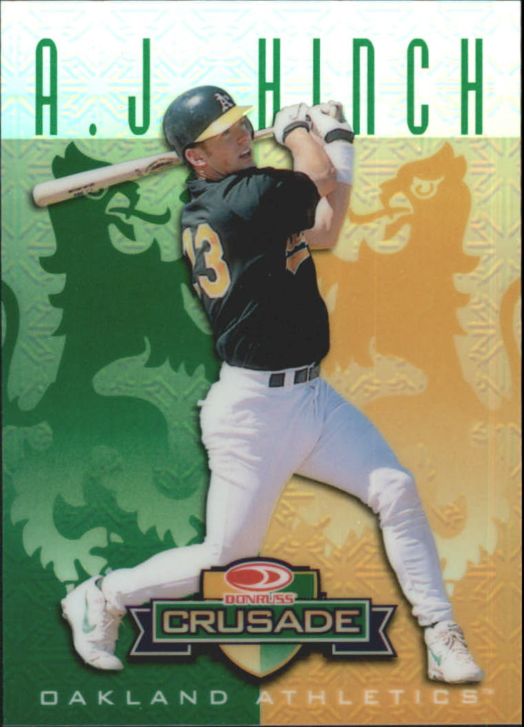 1998 Leaf Rookies and Stars Crusade Update Green #123 A.J. Hinch