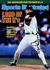 1998 Sports Illustrated Then and Now Autographs #1 Roger Clemens/250