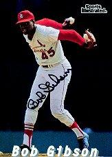 1998 Sports Illustrated Then and Now Autographs #2 Bob Gibson/500