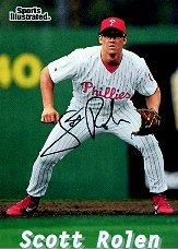 1998 Sports Illustrated Then and Now Autographs #6 Scott Rolen/250