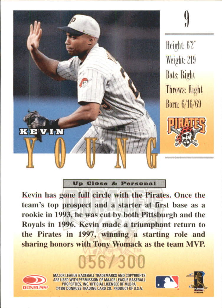 1998 Studio Gold Press Proofs #9 Kevin Young back image