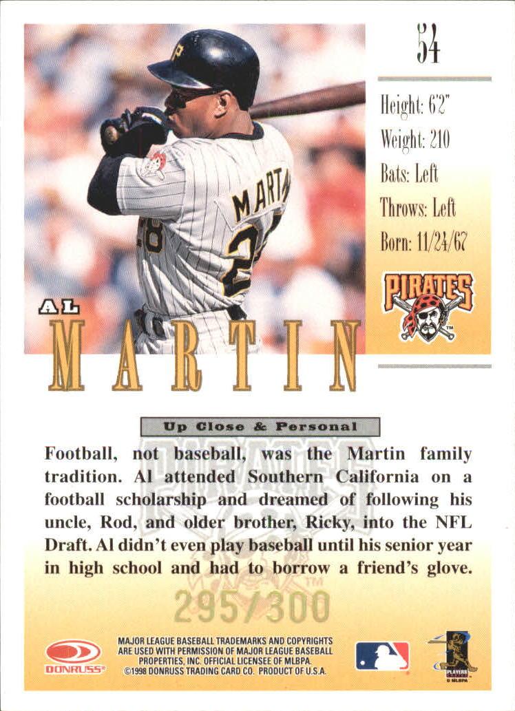 1998 Studio Gold Press Proofs #54 Al Martin back image