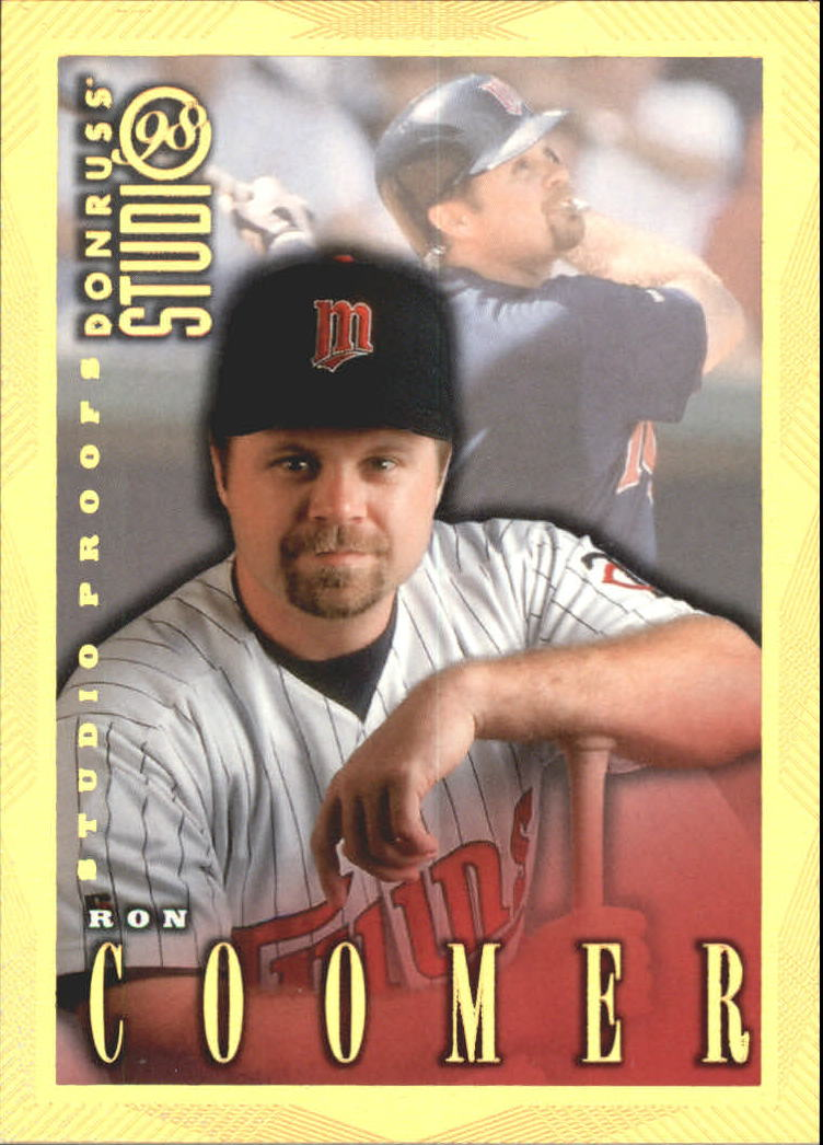 1998 Studio Gold Press Proofs #55 Ron Coomer
