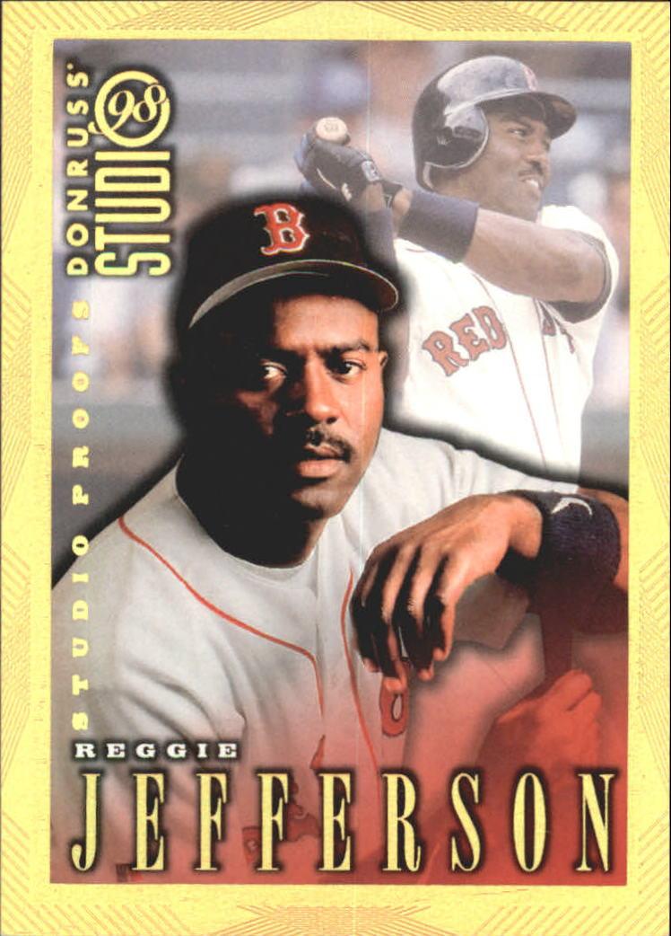 1998 Studio Gold Press Proofs #73 Reggie Jefferson