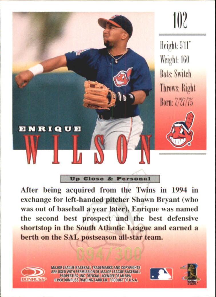 1998 Studio Gold Press Proofs #102 Enrique Wilson back image