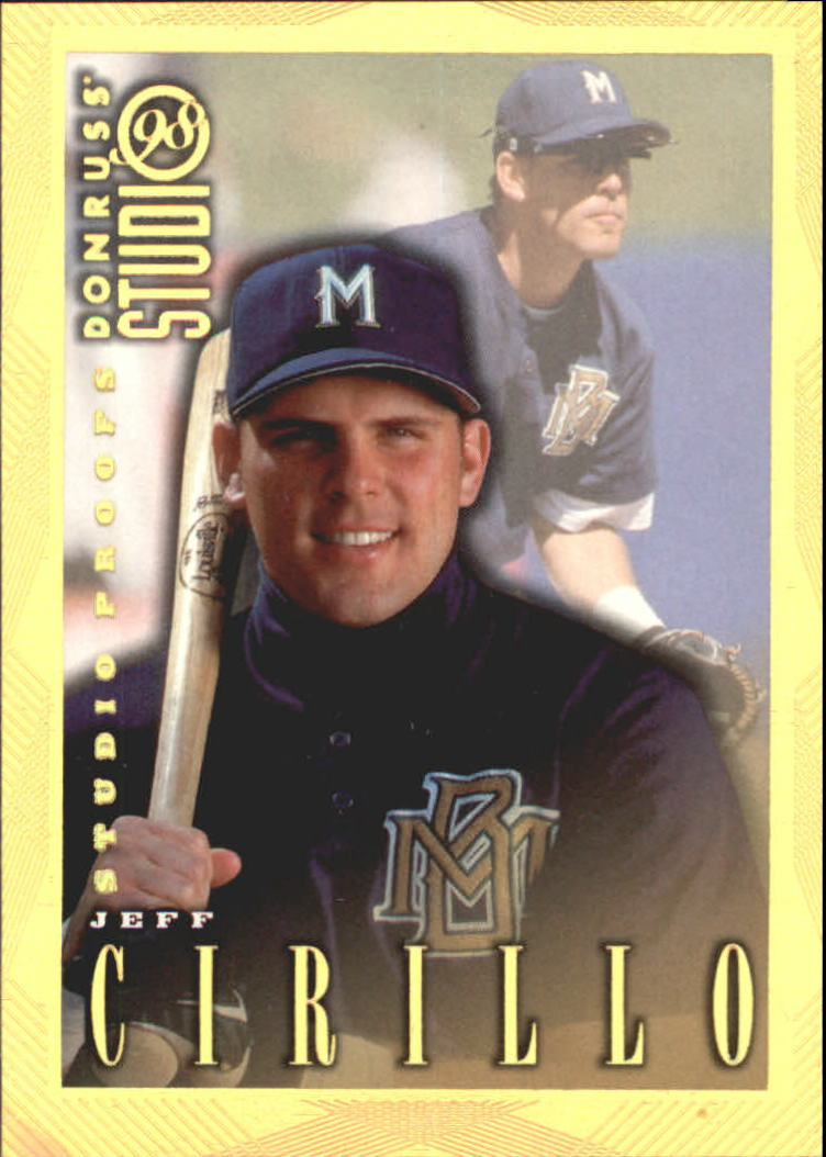 1998 Studio Gold Press Proofs #122 Jeff Cirillo