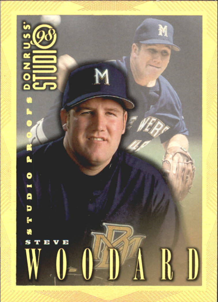 1998 Studio Gold Press Proofs #123 Steve Woodard