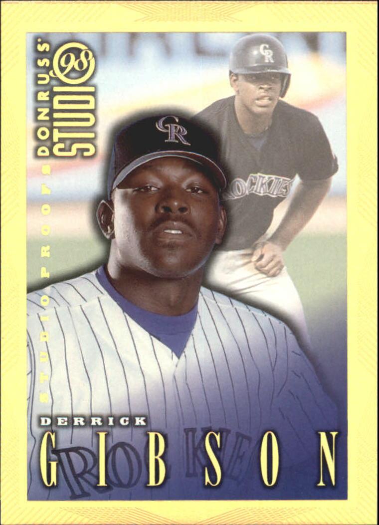 1998 Studio Gold Press Proofs #125 Derrick Gibson