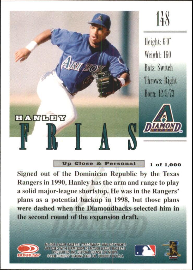1998 Studio Gold Press Proofs #148 Hanley Frias back image