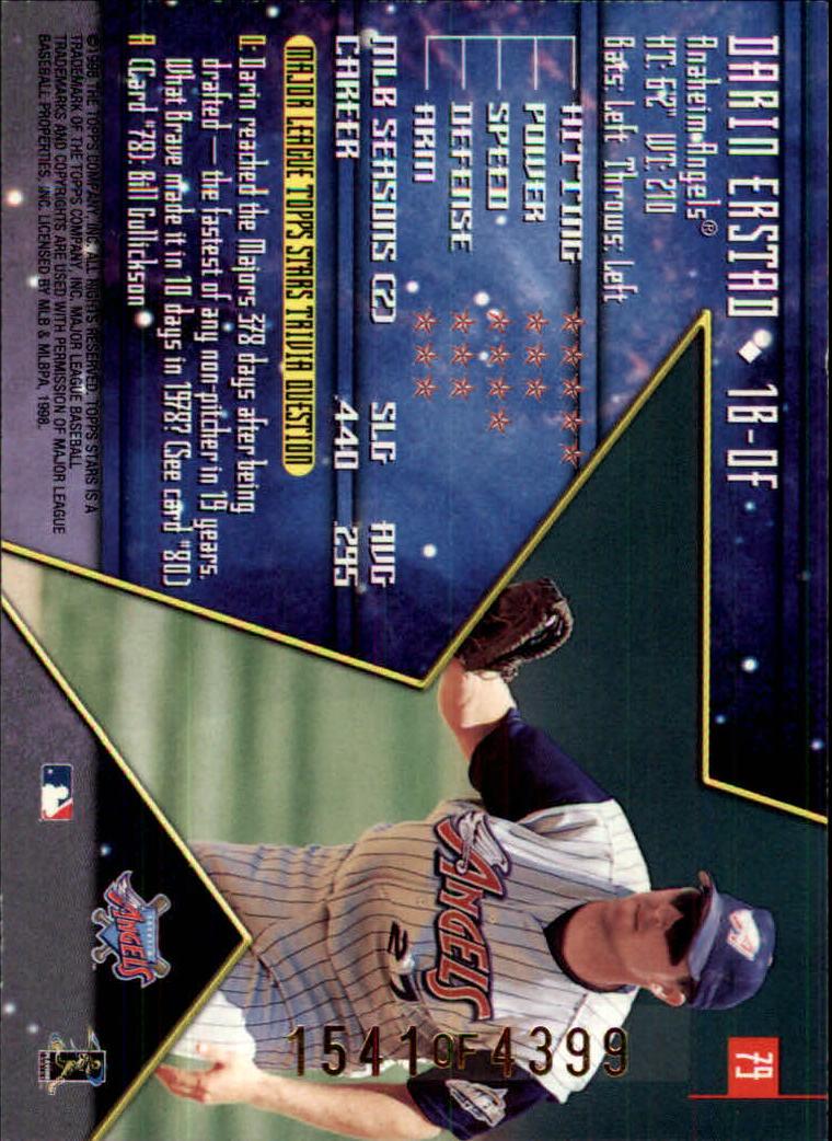 1998 Topps Stars Silver #79 Darin Erstad back image