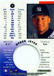 1998 Pinnacle Mint #9 Derek Jeter back image