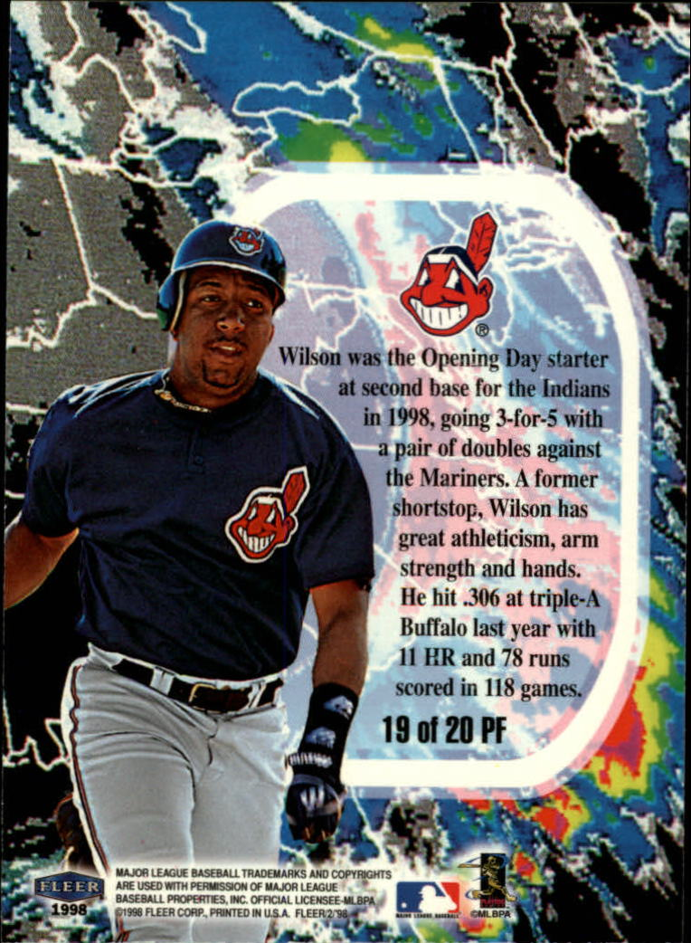 1998 Fleer Tradition Promising Forecast #PF19 Enrique Wilson back image