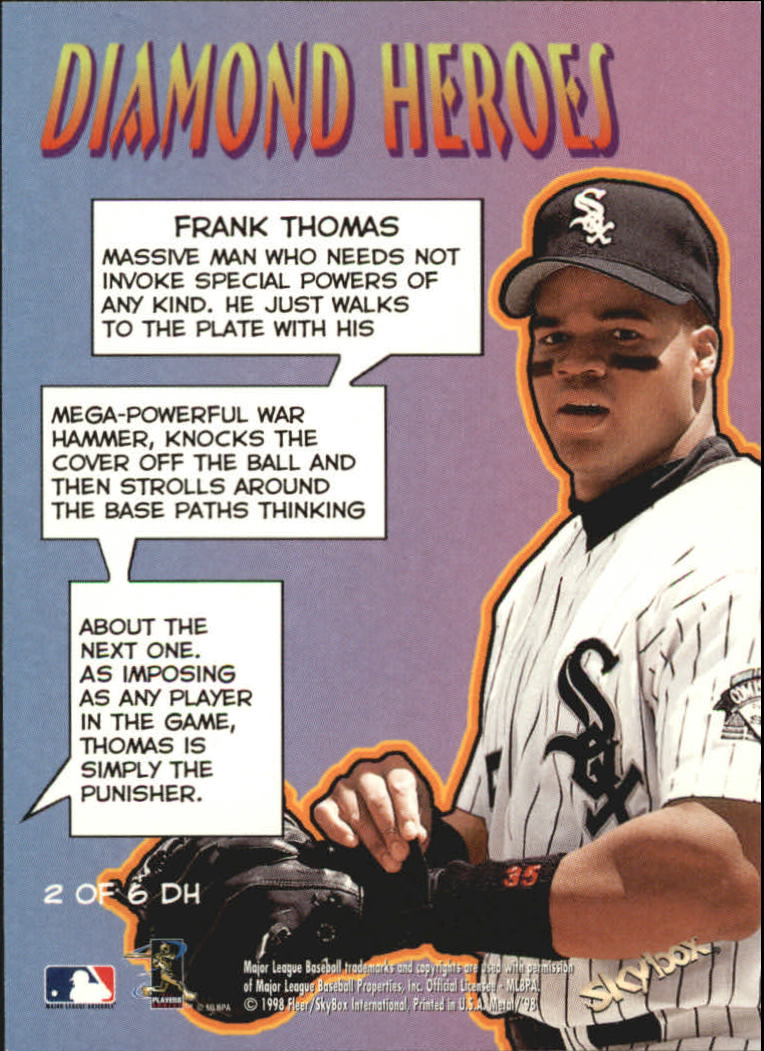 1998 Metal Universe Diamond Heroes #2 Frank Thomas back image