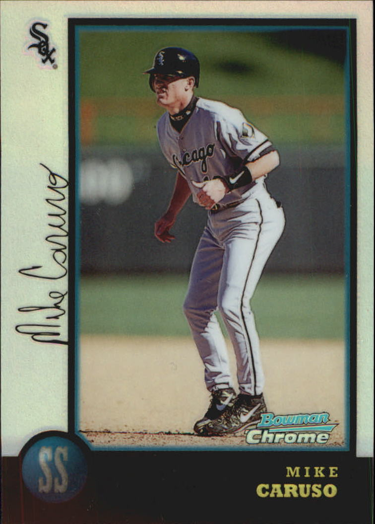 1998 Bowman Chrome Refractors #299 Mike Caruso