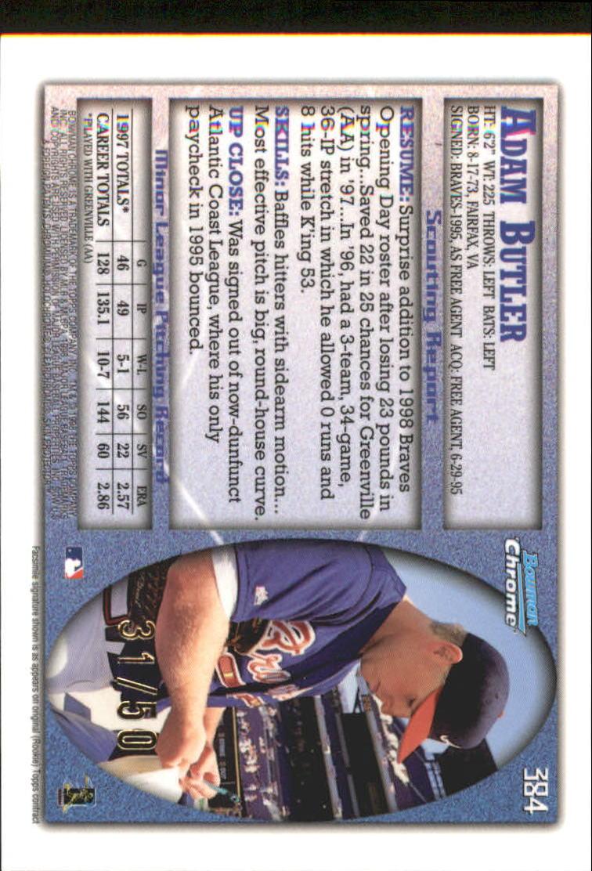 1998 Bowman Chrome Golden Anniversary #384 Adam Butler back image