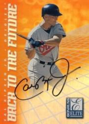 1998 Donruss Elite Back to the Future Autographs #1B Cal Ripken AU/200