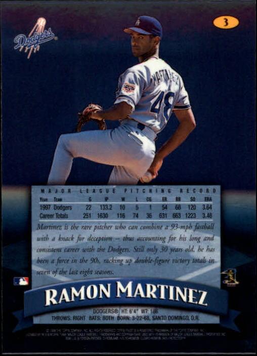 1998 Finest #3 Ramon Martinez back image