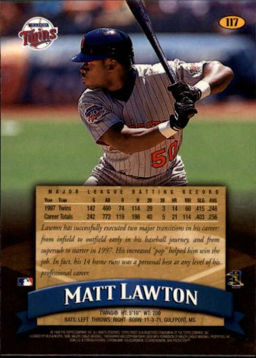 1998 Finest #117 Matt Lawton back image