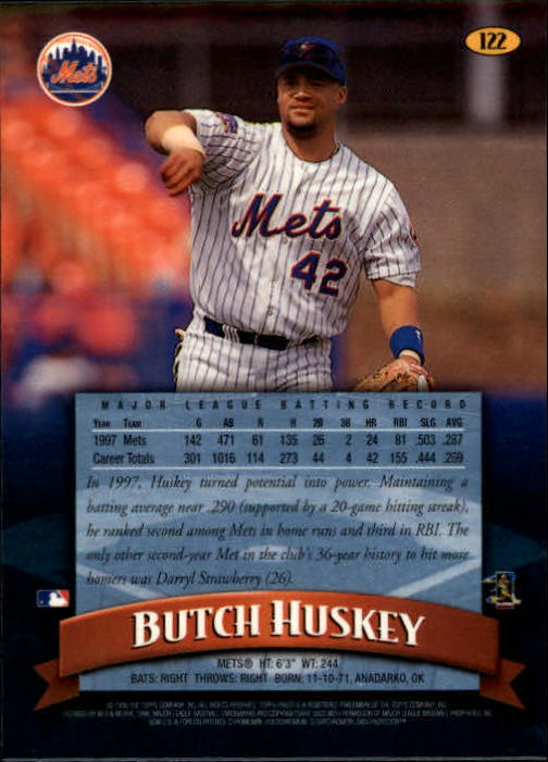 1998 Finest #122 Butch Huskey back image