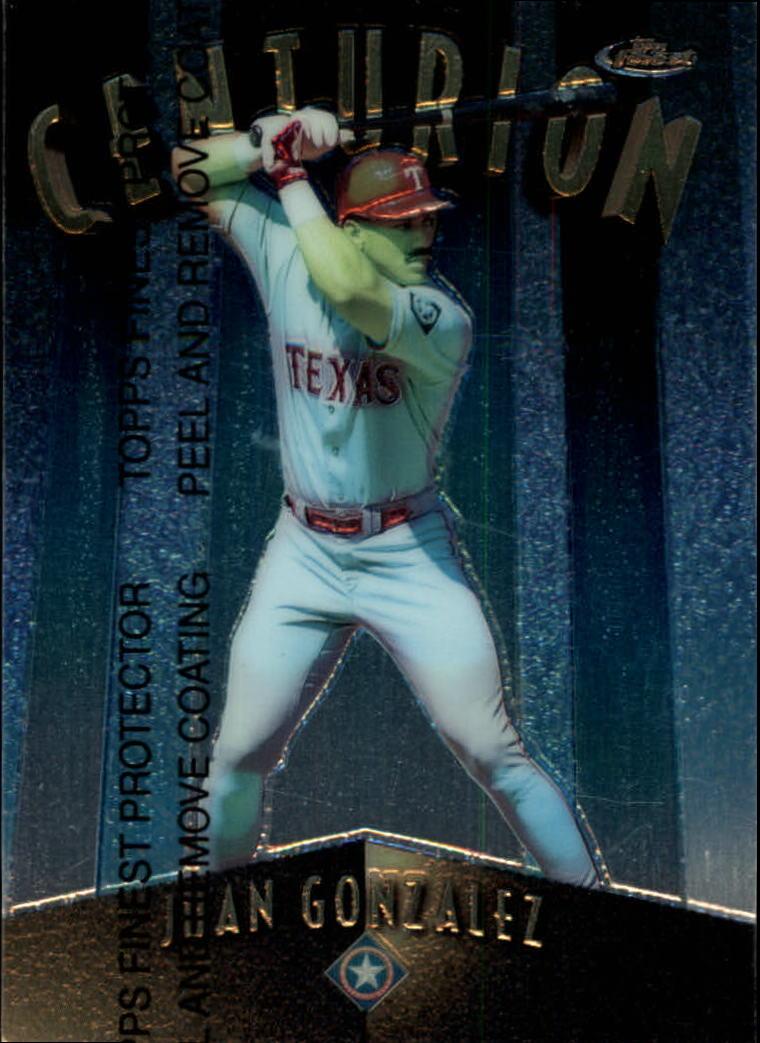 1998 Finest Centurions #C9 Juan Gonzalez