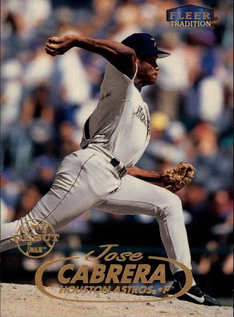 1998 Fleer Tradition #151 Jose Cabrera RC