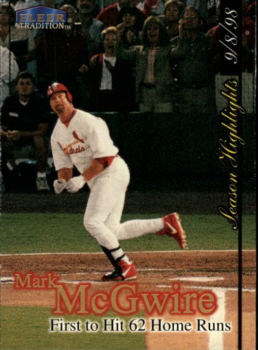 1998 Fleer Tradition Update #U1 Mark McGwire HL