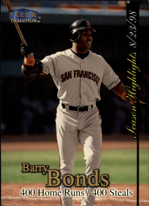 1998 Fleer Tradition Update #U4 Barry Bonds HL