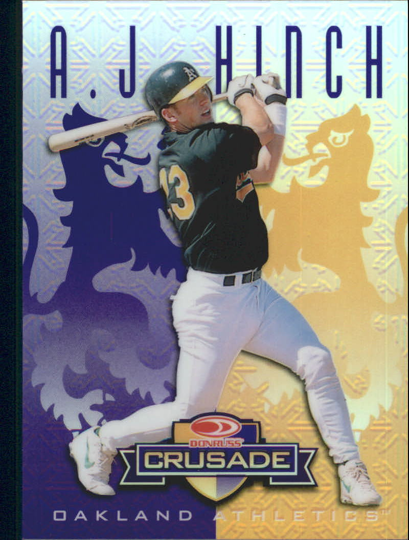 1998 Leaf Rookies and Stars Crusade Update Purple #123 A.J. Hinch