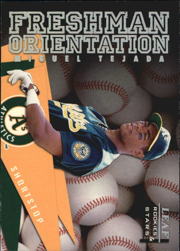 1998 Leaf Rookies and Stars Freshman Orientation #10 Miguel Tejada
