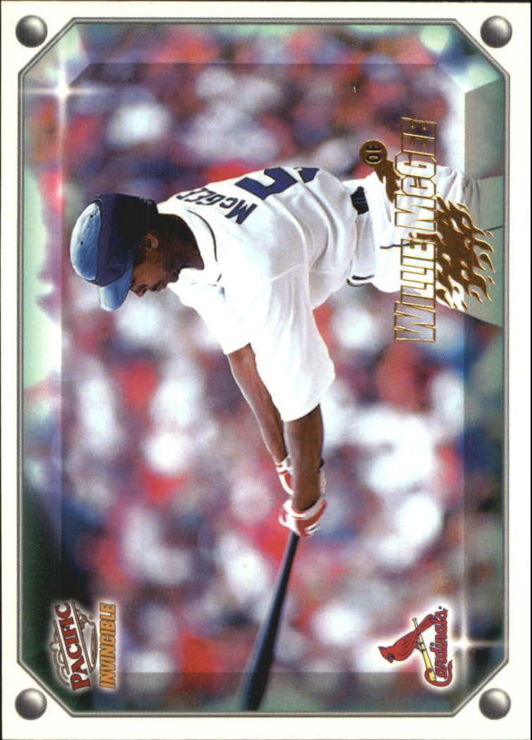 1998 Pacific Invincible Gems of the Diamond #206 Willie McGee