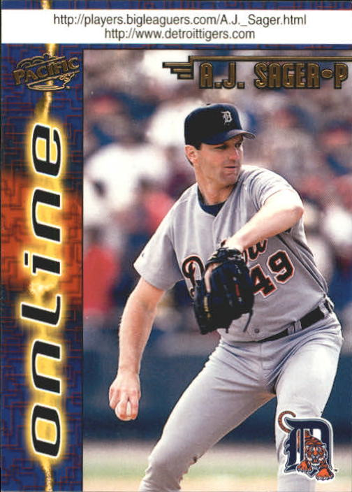 1998 Pacific Online Web Cards #285 A.J. Sager