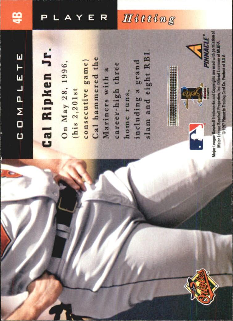 1998 Score Complete Players #4B Cal Ripken back image