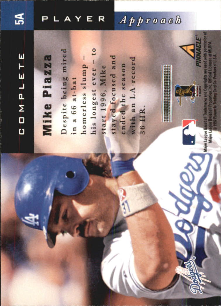 1998 Score Complete Players #5A Mike Piazza back image