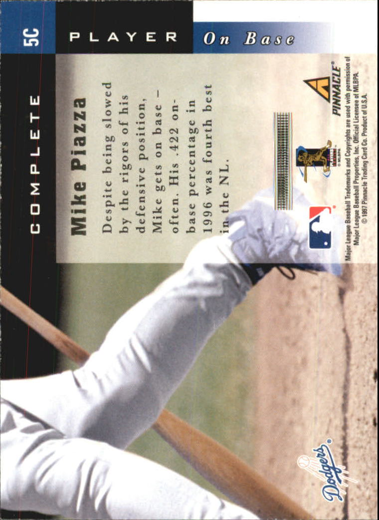 1998 Score Complete Players #5C Mike Piazza back image