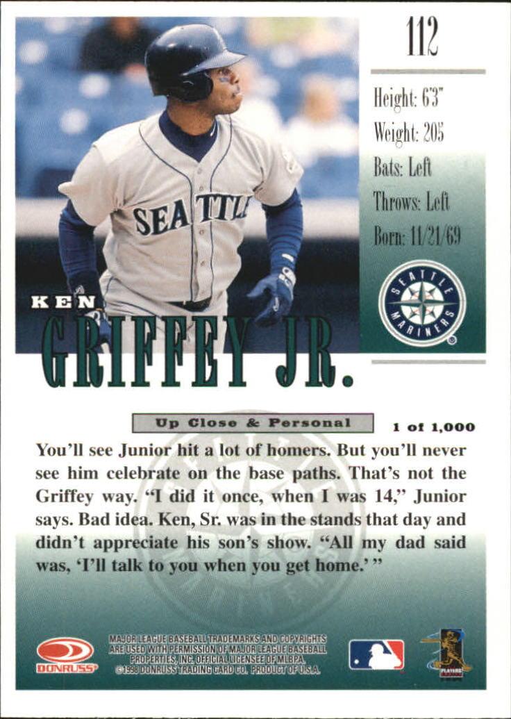 1998 Studio Silver Press Proofs #112 Ken Griffey Jr. back image