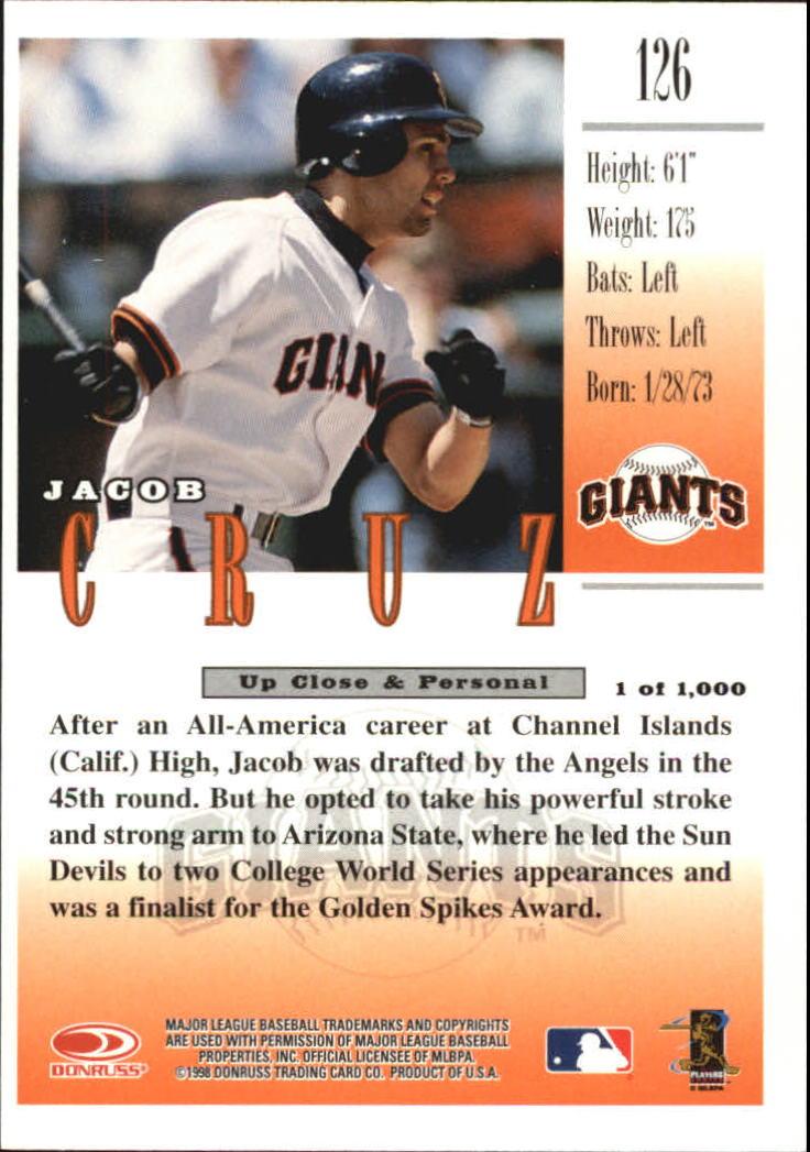 1998 Studio Silver Press Proofs #126 Jacob Cruz back image