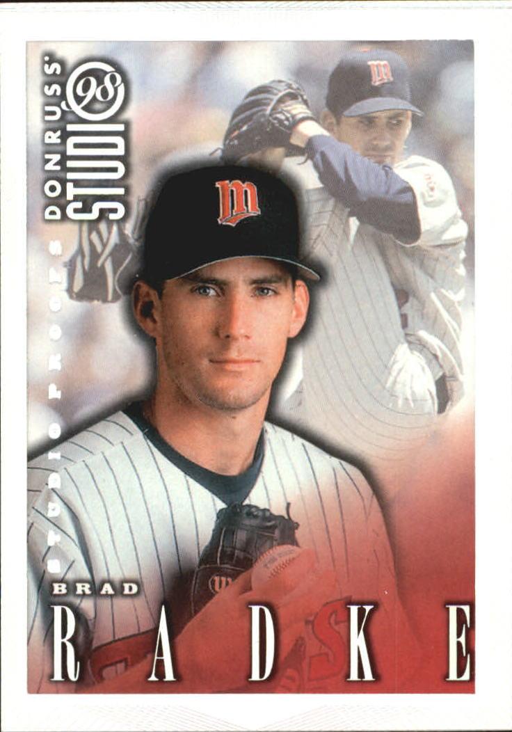 1998 Studio Silver Press Proofs #131 Brad Radke