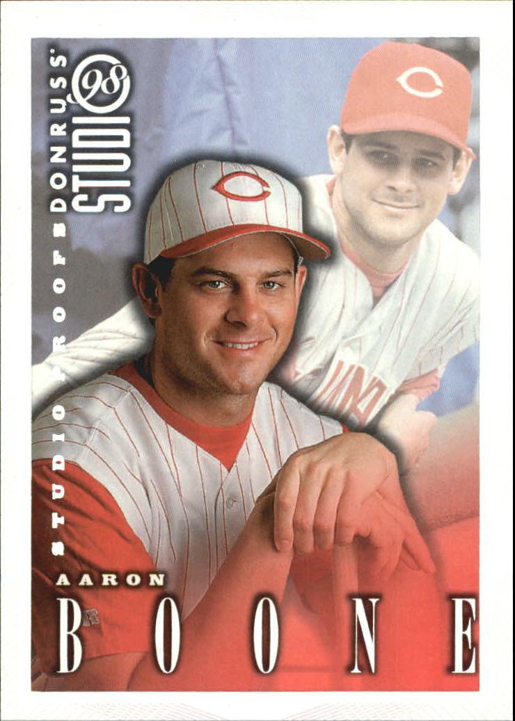 1998 Studio Silver Press Proofs #140 Aaron Boone