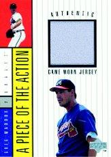 1998 Upper Deck A Piece of the Action 1 #6 Greg Maddux Jersey