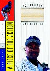 1998 Upper Deck A Piece of the Action 1 #9 Gary Sheffield Bat