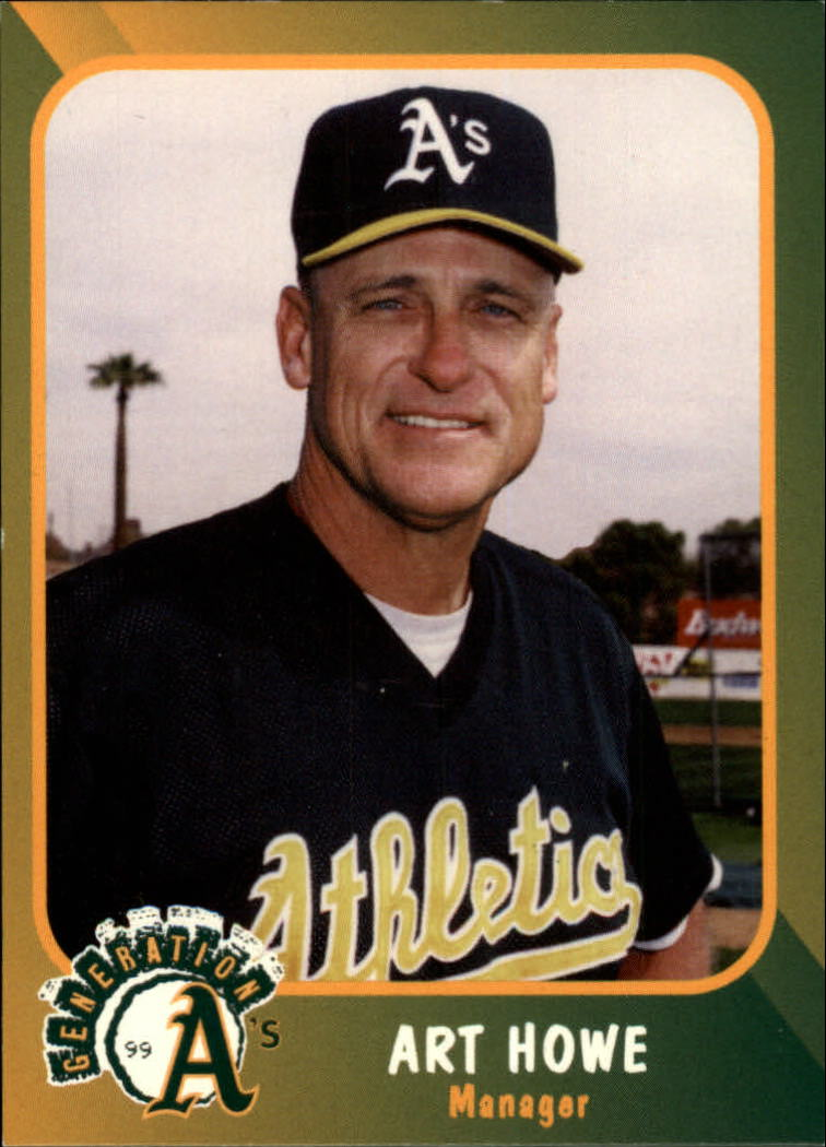 1999 A's Plumbers Union #1 Art Howe MG