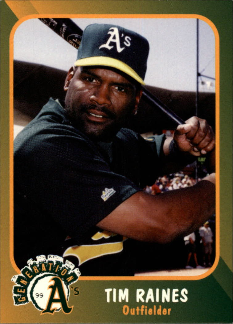 1999 A's Plumbers Union #9 Tim Raines