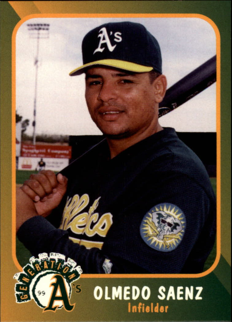 1999 A's Plumbers Union #16 Olmedo Saenz