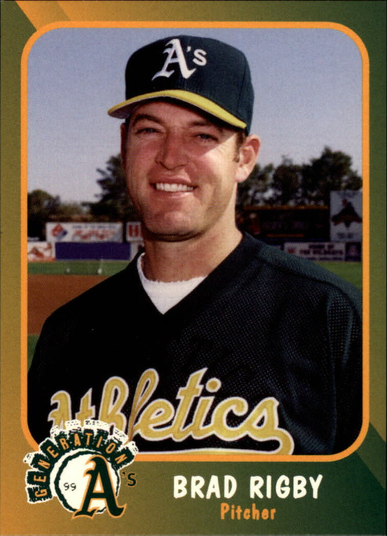 1999 A's Plumbers Union #19 Brad Rigby