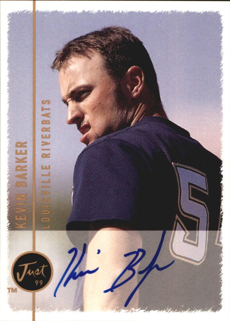 1999 Just Autographs #12 Kevin Barker IM